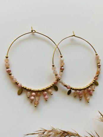 Boucles d'oreilles pampa créoles rosés
