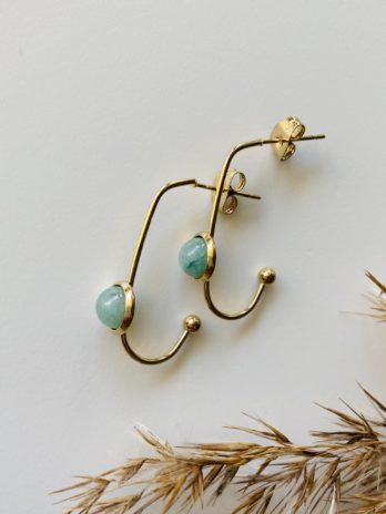 Boucles d'oreilles pampa fines pierres naturelles