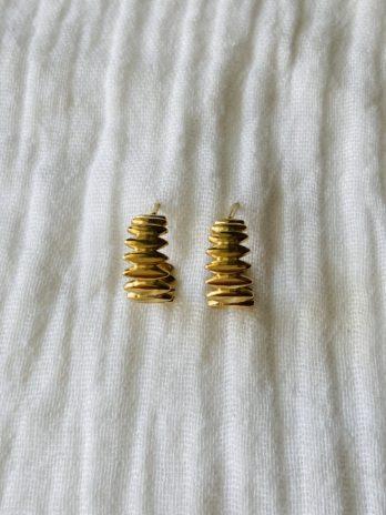 """Boucles d'oreilles """"collection coton"""" mini créoles"""